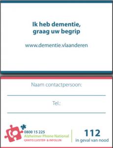 dementie-assistentiekaartje